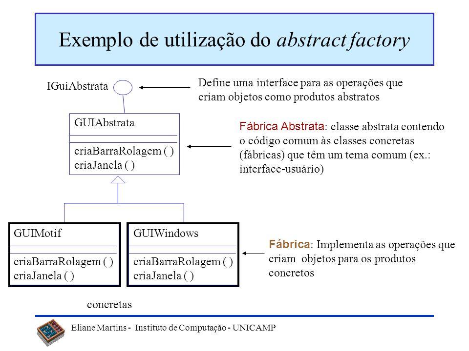 Exemplo de utilização do abstract factory