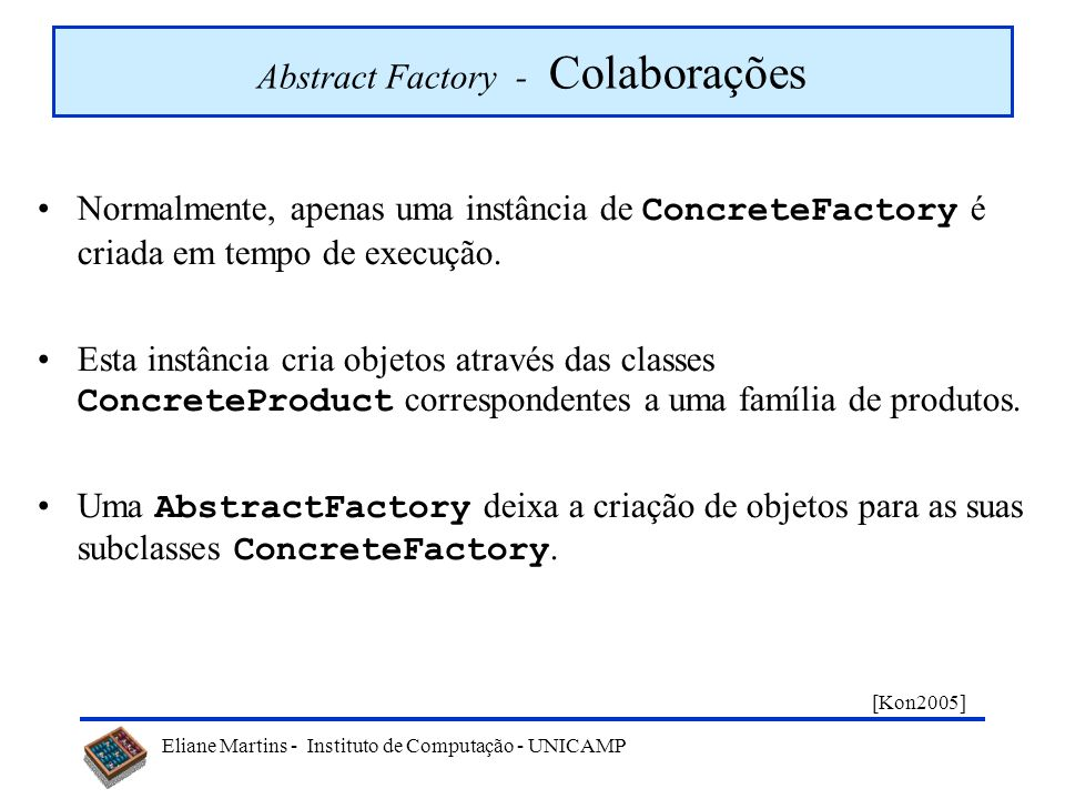 Abstract Factory - Colaborações