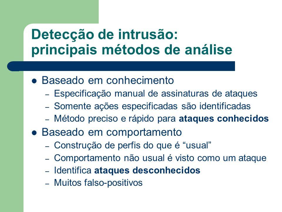 Detecção de intrusão: principais métodos de análise
