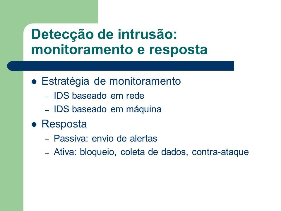 Detecção de intrusão: monitoramento e resposta