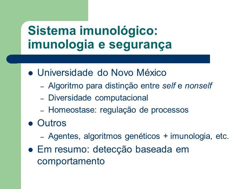 Sistema imunológico: imunologia e segurança