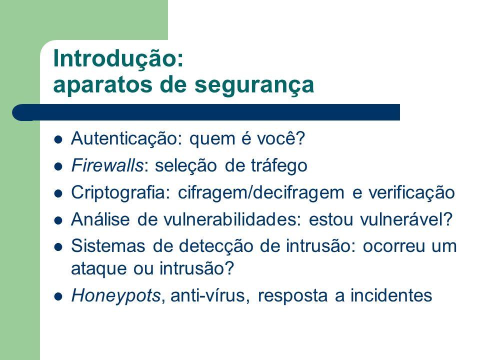 Introdução: aparatos de segurança