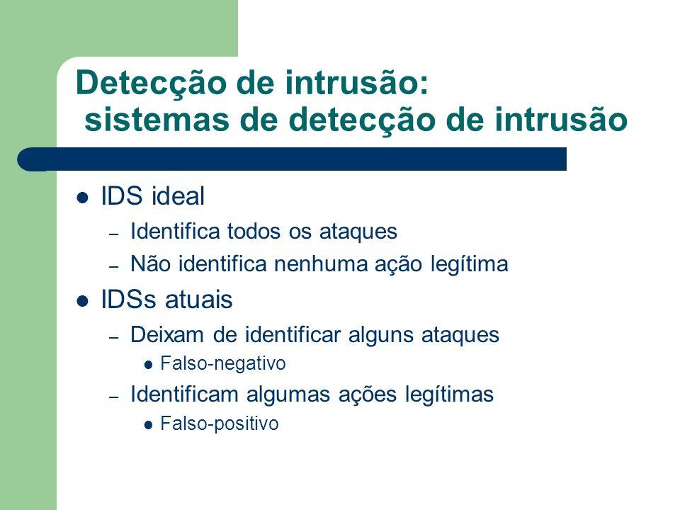 Detecção de intrusão: sistemas de detecção de intrusão