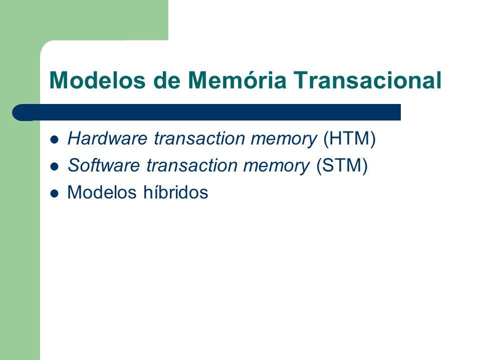 Modelos de Memória Transacional