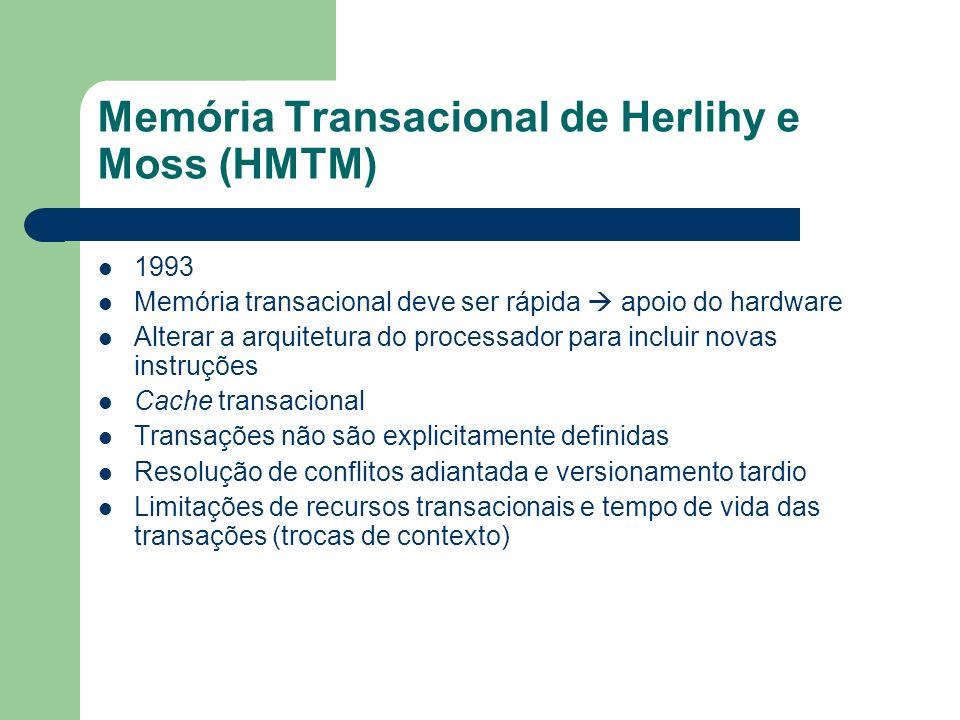 Memória Transacional de Herlihy e Moss (HMTM)