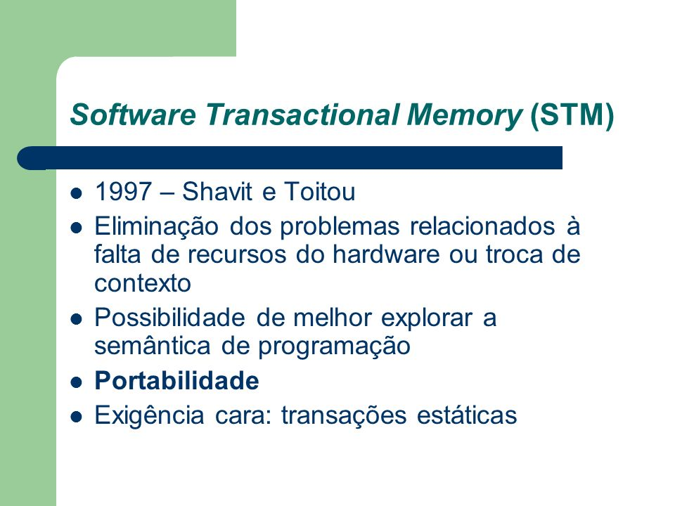 Software Transactional Memory (STM)