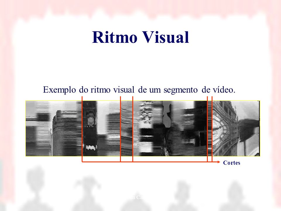 Ritmo Visual Exemplo do ritmo visual de um segmento de vídeo. Cortes