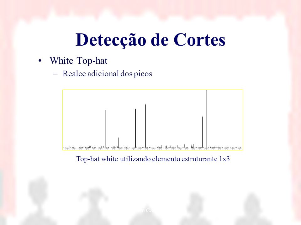Detecção de Cortes White Top-hat Realce adicional dos picos