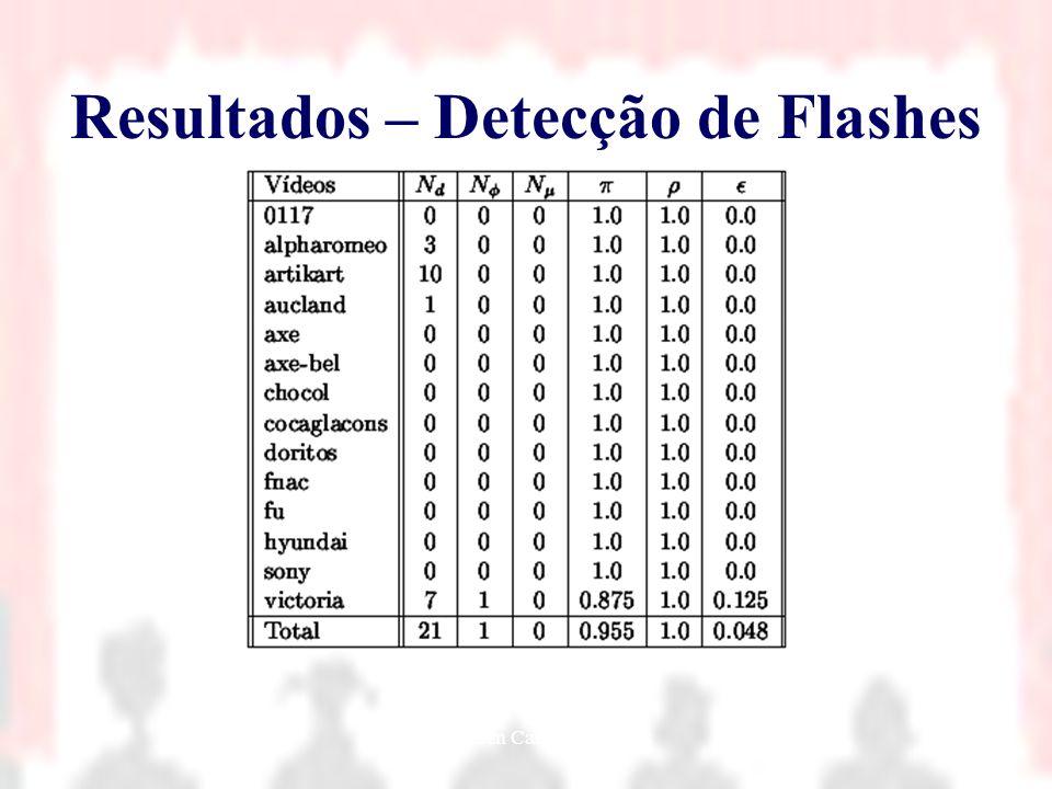 Resultados – Detecção de Flashes