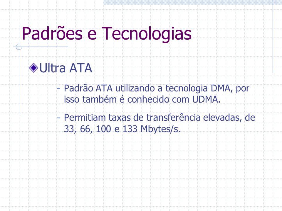 Padrões e Tecnologias Ultra ATA
