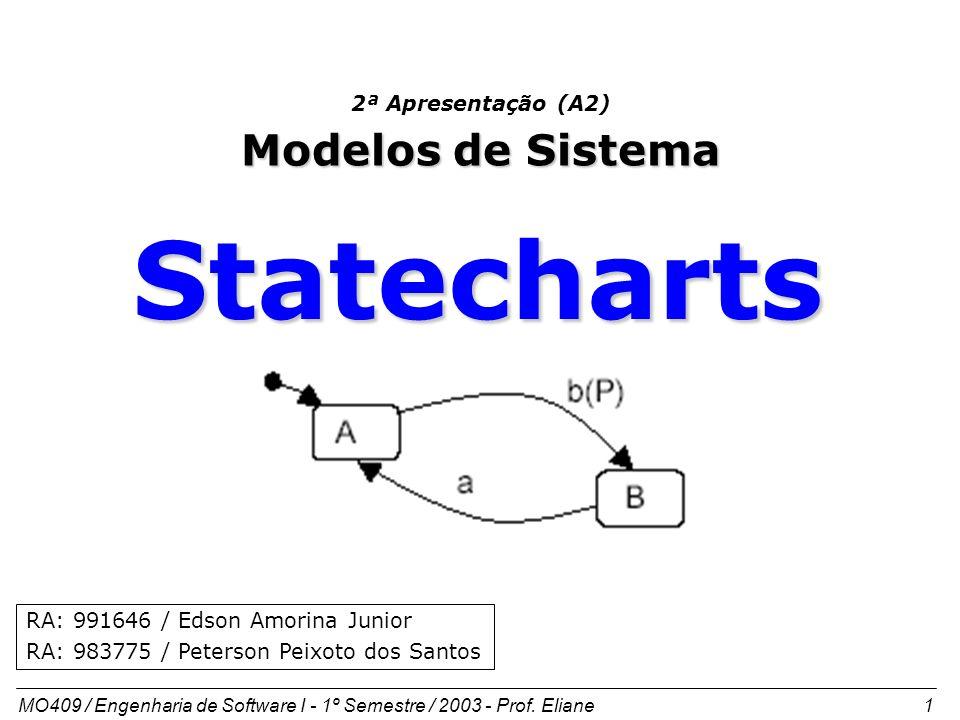 Statecharts Modelos de Sistema 2ª Apresentação (A2)