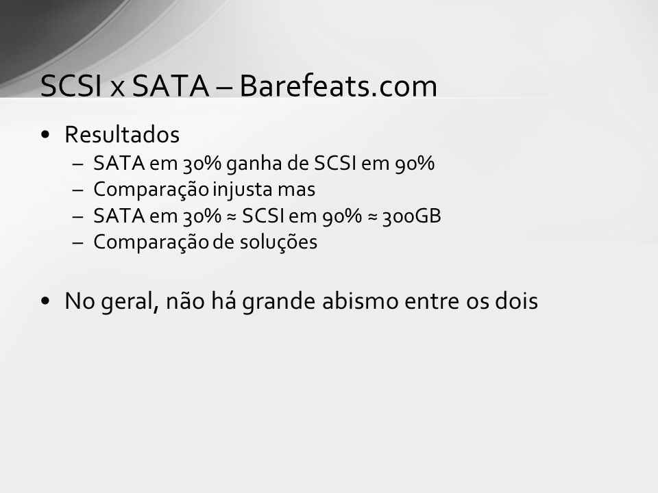 SCSI x SATA – Barefeats.com
