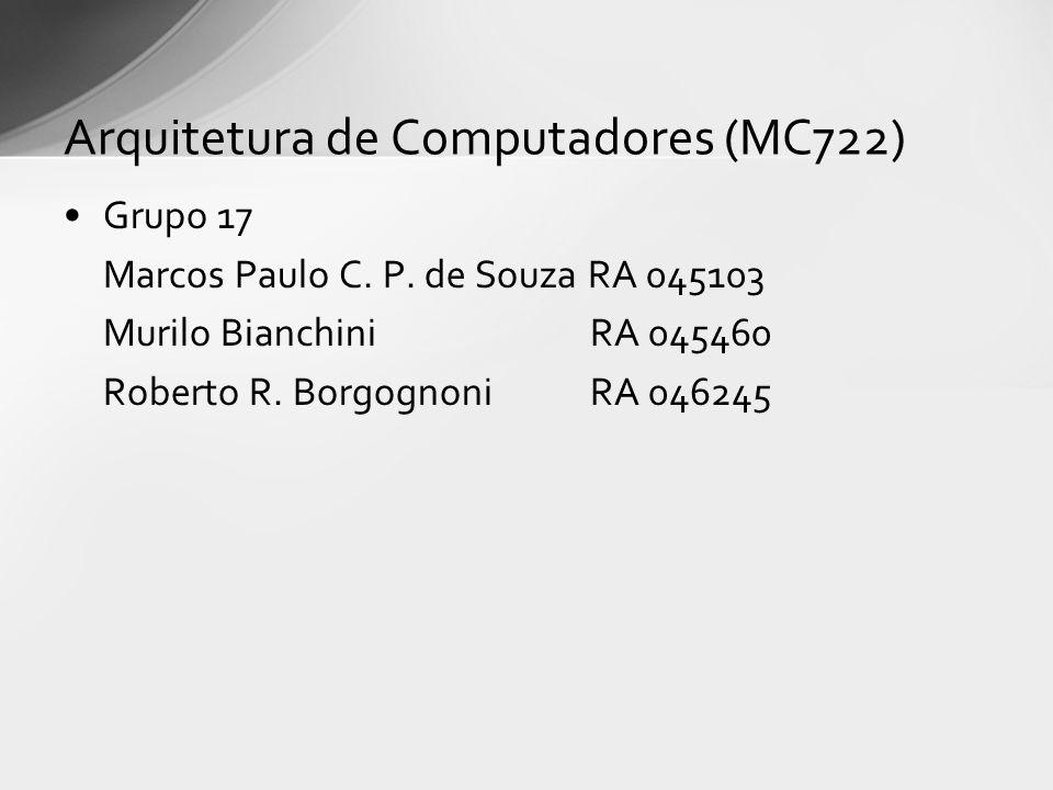 Arquitetura de Computadores (MC722)