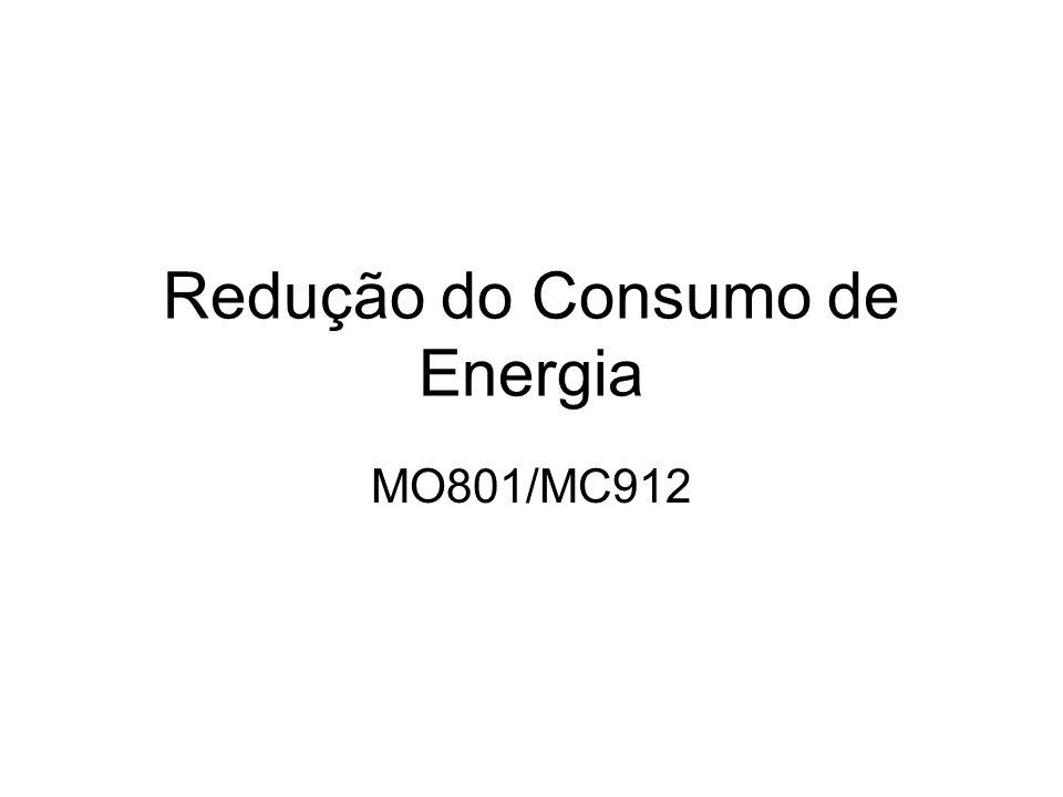 Redução do Consumo de Energia