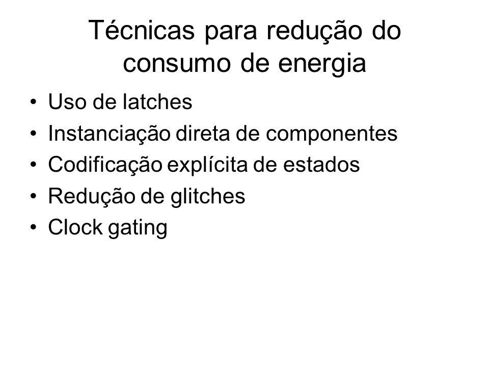 Técnicas para redução do consumo de energia