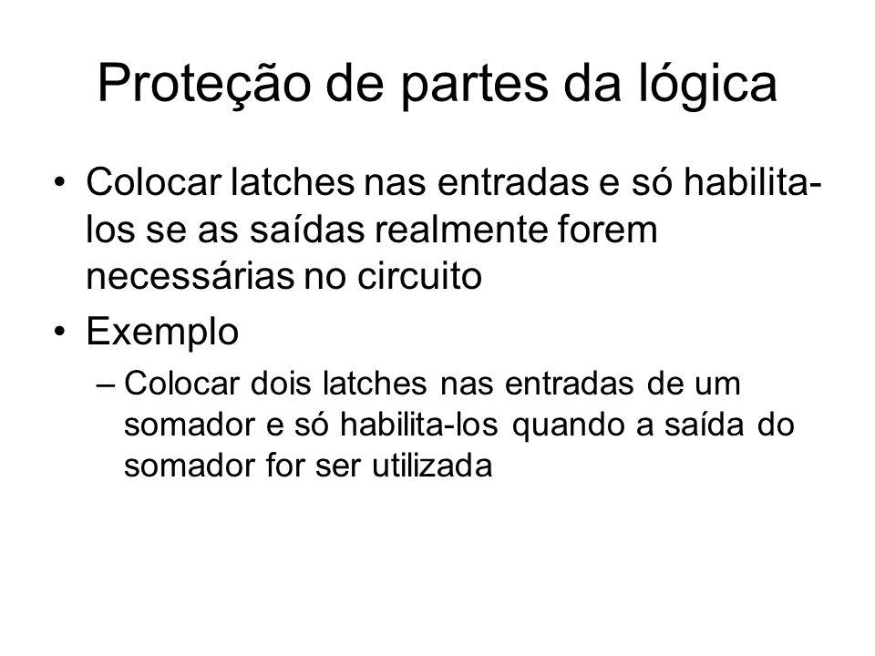 Proteção de partes da lógica