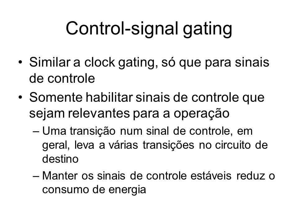 Control-signal gating