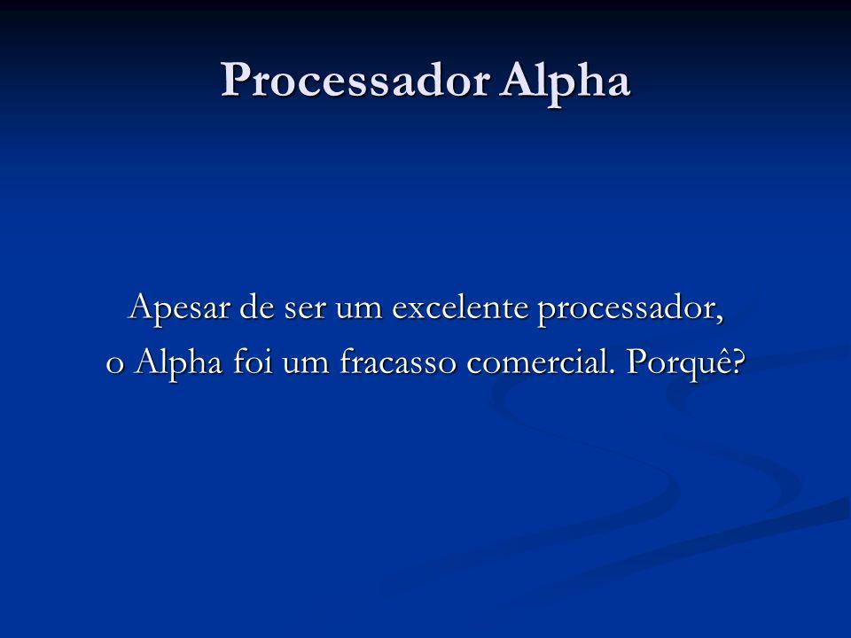 Processador Alpha Apesar de ser um excelente processador,