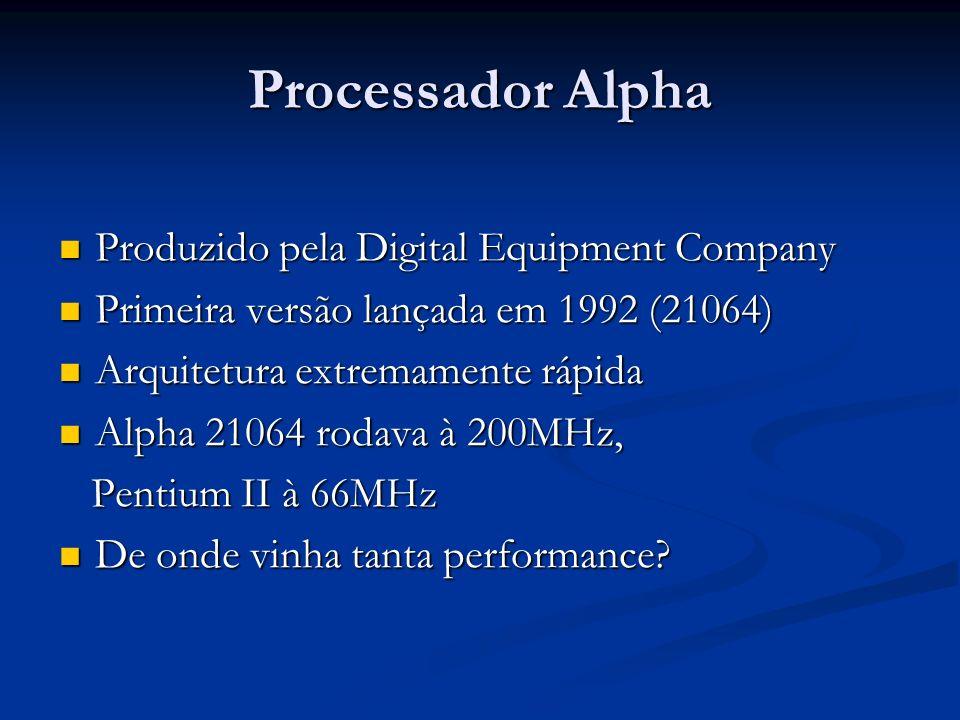Processador Alpha Produzido pela Digital Equipment Company