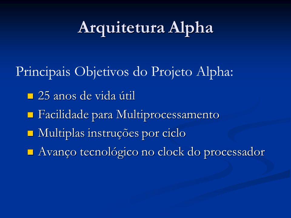 Arquitetura Alpha Principais Objetivos do Projeto Alpha: