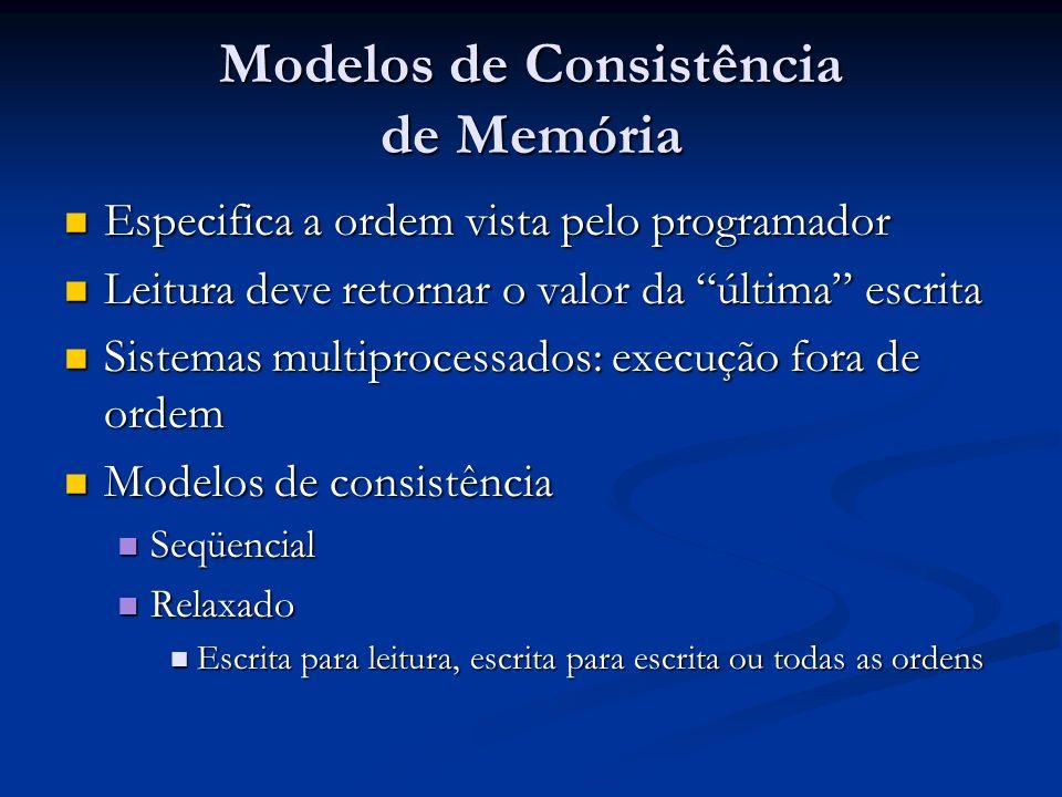 Modelos de Consistência de Memória