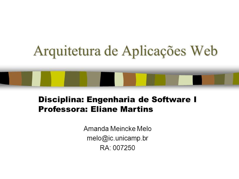 Arquitetura de Aplicações Web