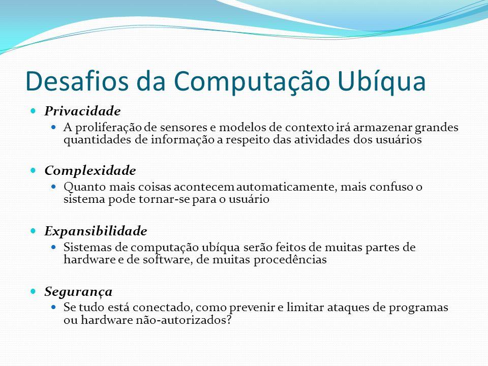 Desafios da Computação Ubíqua