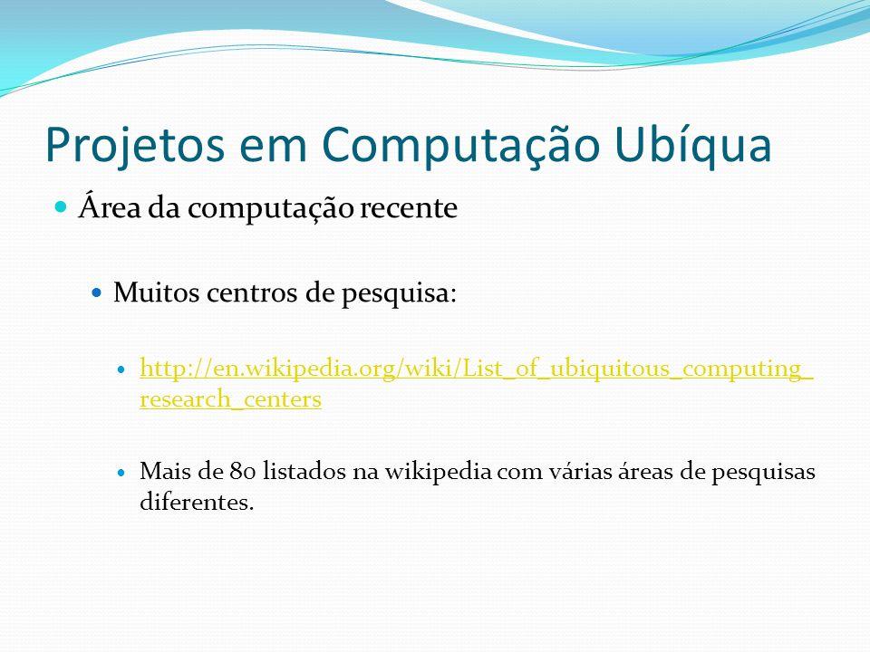 Projetos em Computação Ubíqua