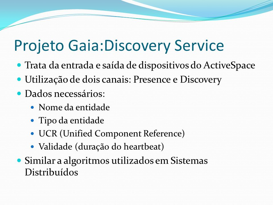 Projeto Gaia:Discovery Service
