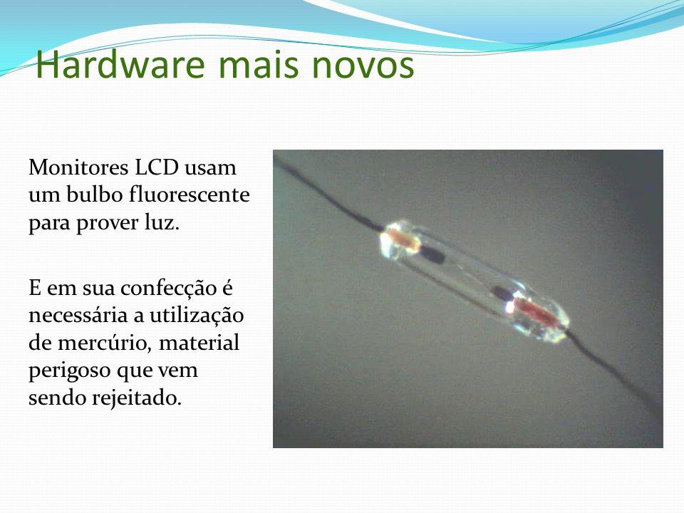 Hardware mais novos Monitores LCD usam um bulbo fluorescente para prover luz.