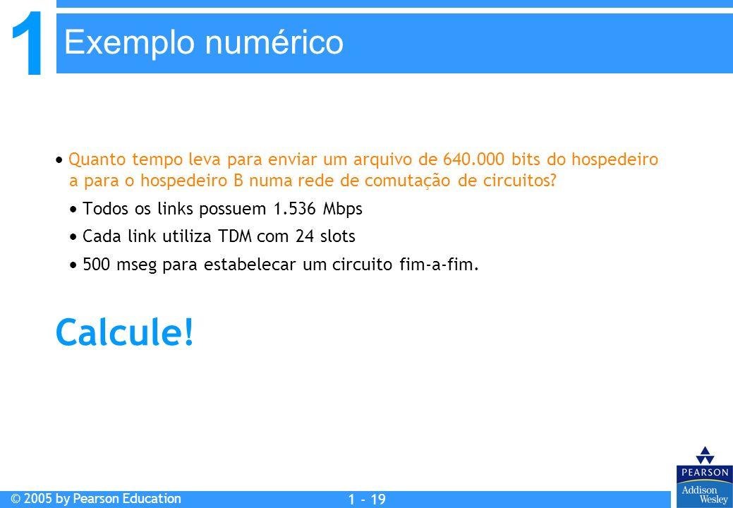 Calcule! Exemplo numérico