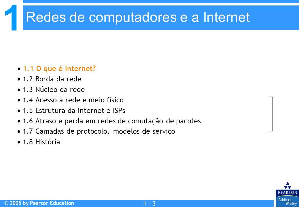 Capítulo 1: Redes de computadores e a Internet
