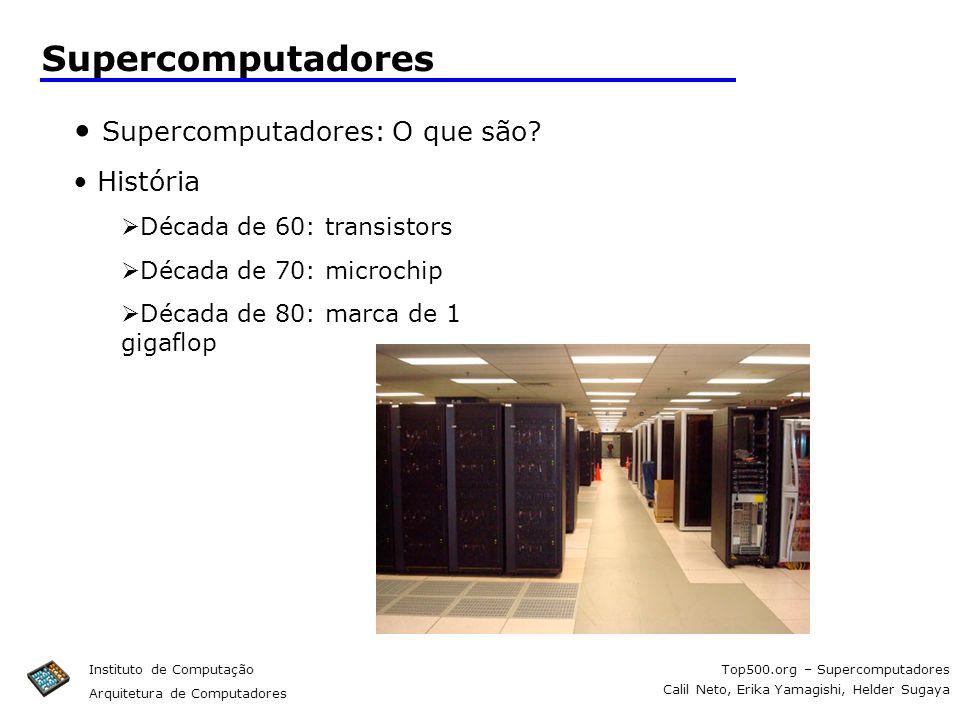 Supercomputadores Supercomputadores: O que são História