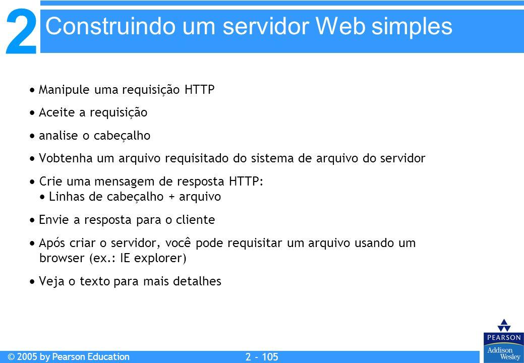 Construindo um servidor Web simples