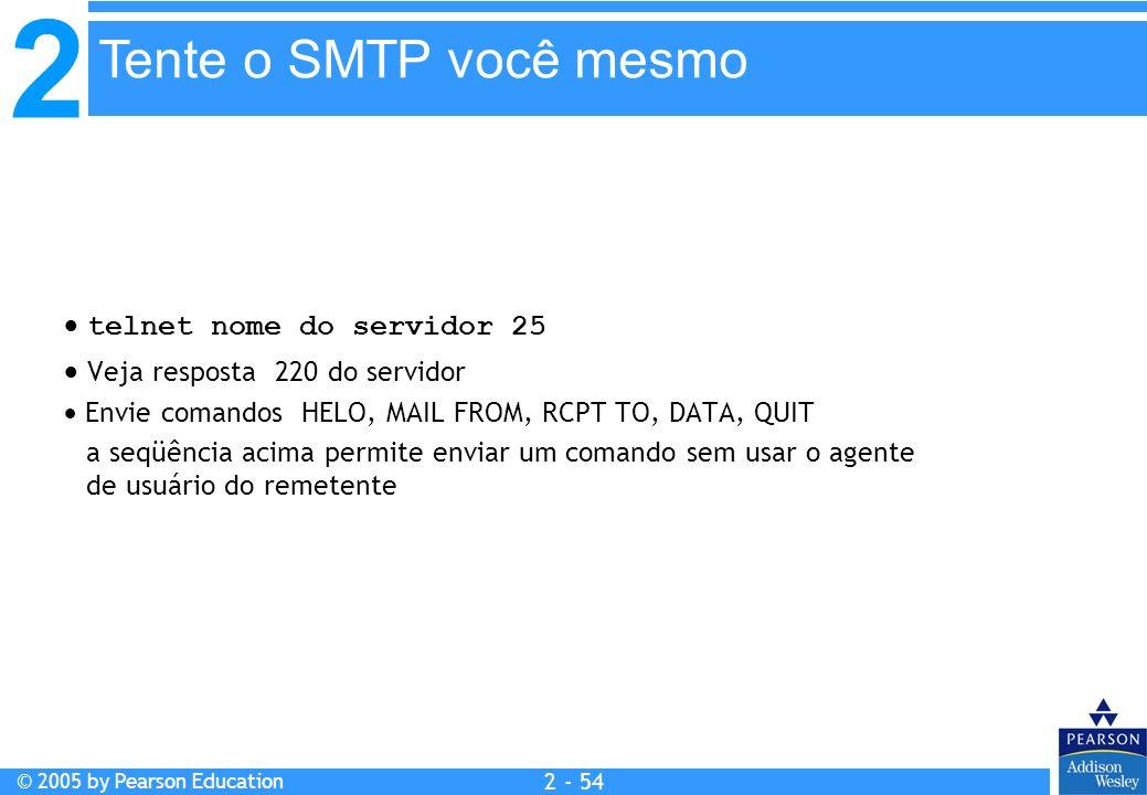 Tente o SMTP você mesmo  telnet nome do servidor 25