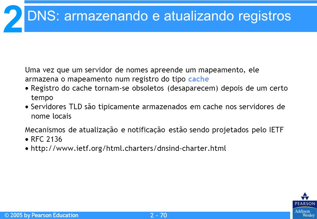 DNS: armazenando e atualizando registros