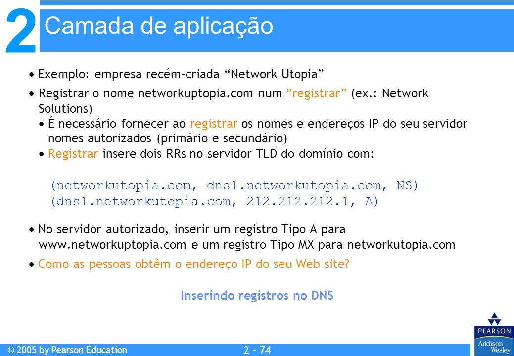 Inserindo registros no DNS