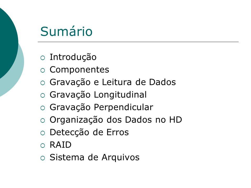 Sumário Introdução Componentes Gravação e Leitura de Dados