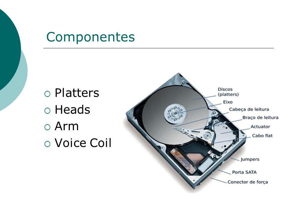 Componentes Platters Heads Arm Voice Coil