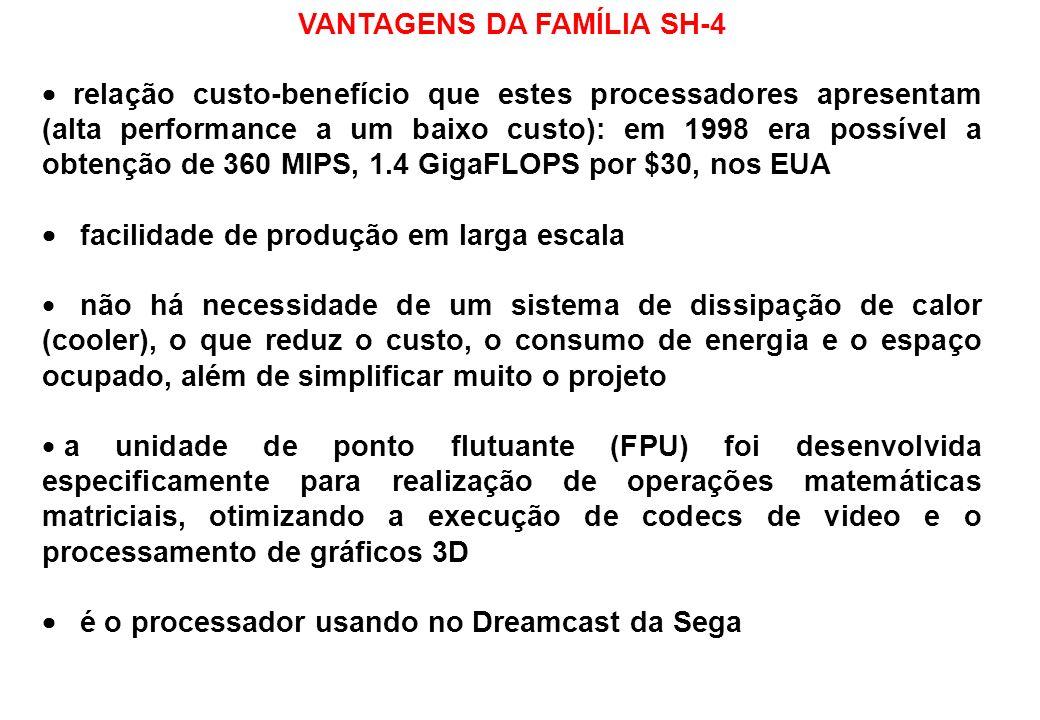 VANTAGENS DA FAMÍLIA SH-4