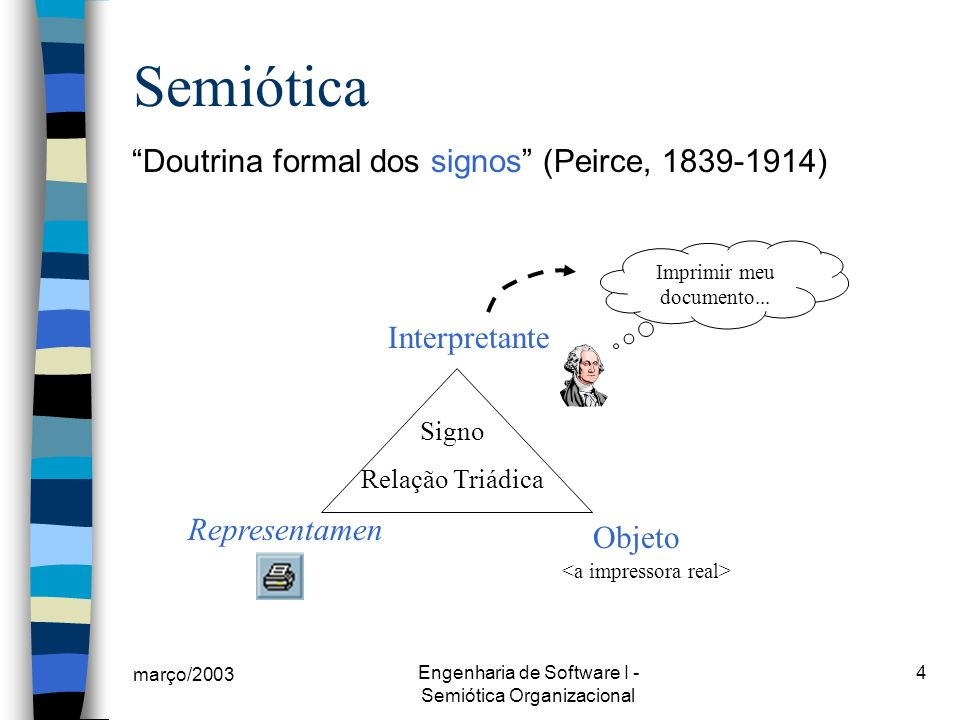 Semiótica Doutrina formal dos signos (Peirce, 1839-1914)