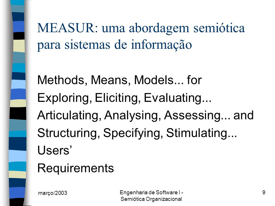 MEASUR: uma abordagem semiótica para sistemas de informação