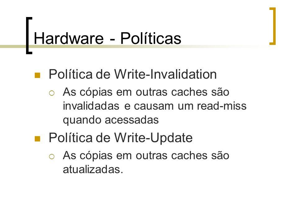 Hardware - Políticas Política de Write-Invalidation