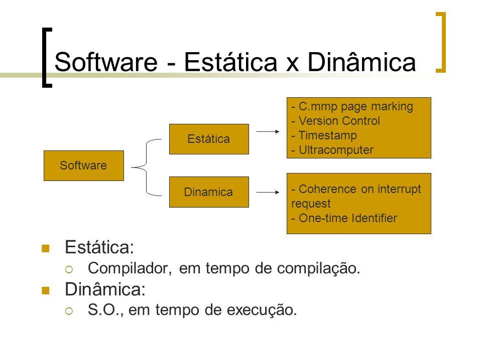 Software - Estática x Dinâmica