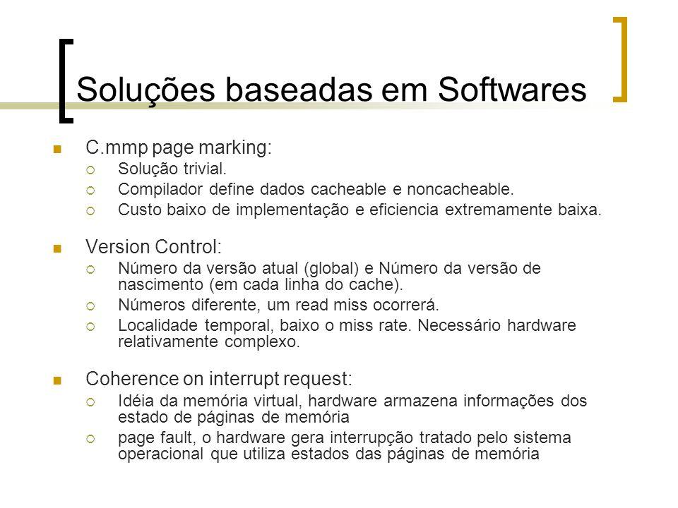 Soluções baseadas em Softwares