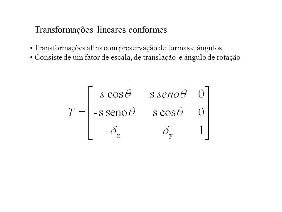 Transformações lineares conformes