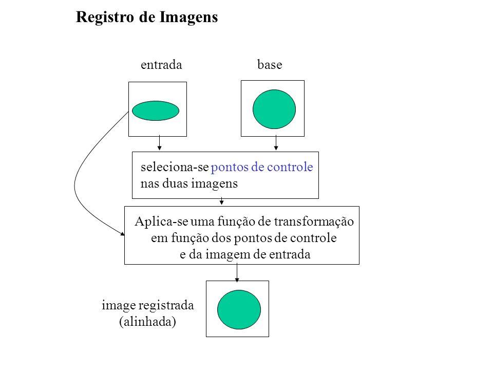Registro de Imagens entrada base seleciona-se pontos de controle
