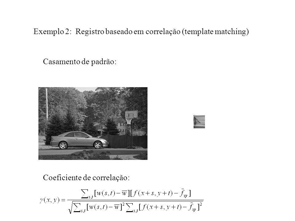 Exemplo 2: Registro baseado em correlação (template matching)
