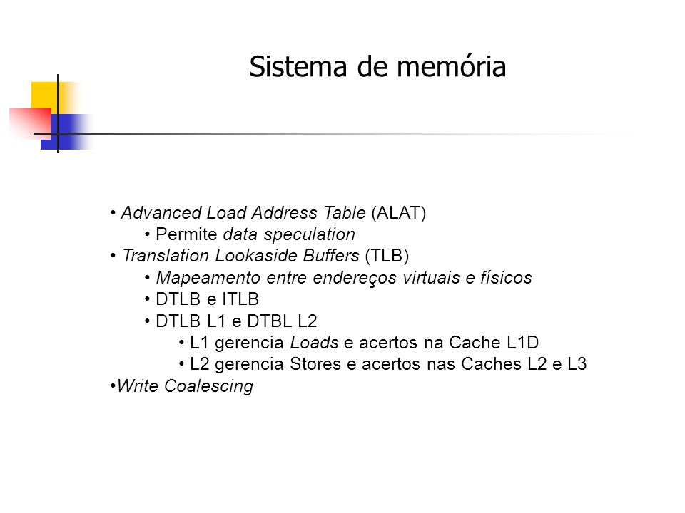 Sistema de memória Advanced Load Address Table (ALAT)