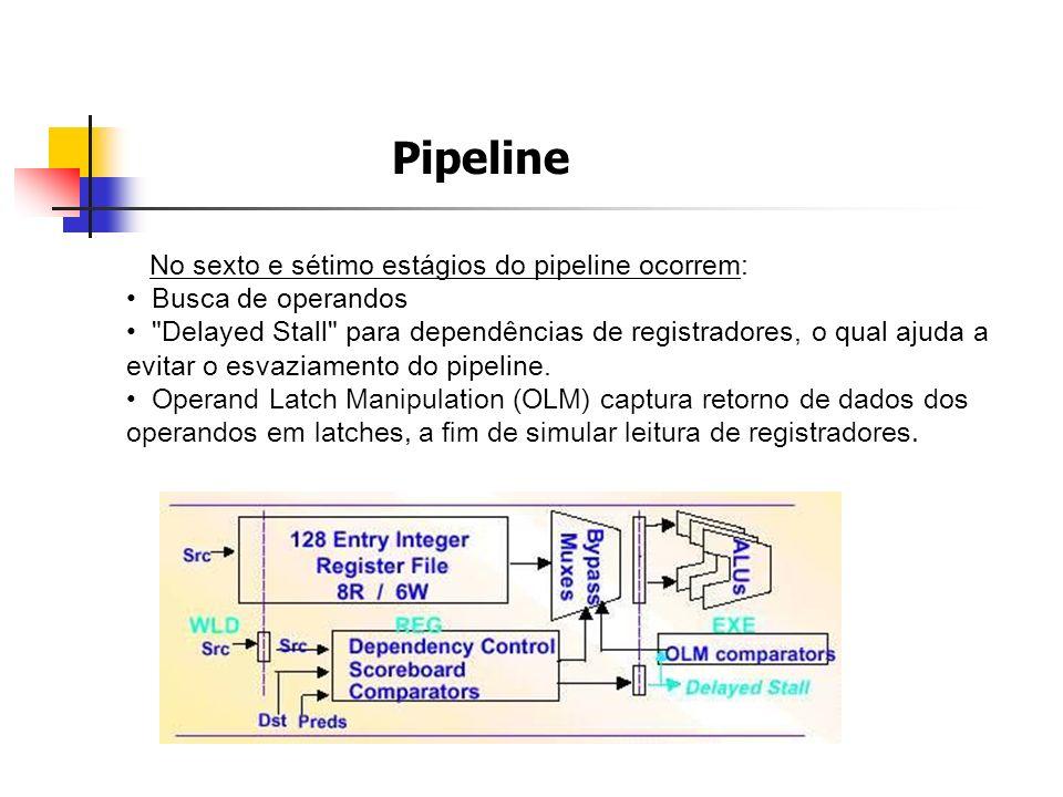Pipeline No sexto e sétimo estágios do pipeline ocorrem: